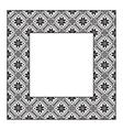 Set square frame ornamental ethnic vector