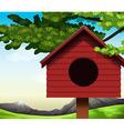 A birdhouse vector