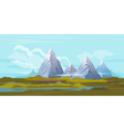 Mountains landscape background vector
