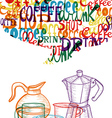 Trendy cute coffee concept vector