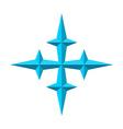Four rays pseudo 3d star vector