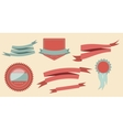 Set retro ribbons and label vector