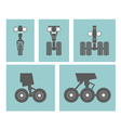 Airplane elements landing gears vector