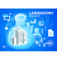 Bright laboratory research of buildings on b vector