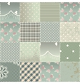 The patchwork quilt in shabby chic style with vector