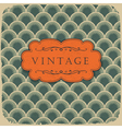 Vintage scale pattern with retro label vector