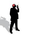 Man with a cigar vector