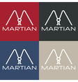 Martian monogram vector