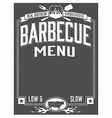Genuine southern barbecue menu design vector