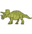 Cartoon of triceratops dinosaur vector