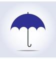 Dark blue umbrella simple icon vector