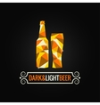 Beer bottle poly design background vector
