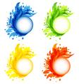Four seasonal flourish colorful frames isolated vector
