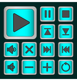 Set of neon buttons vector
