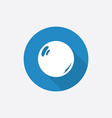 Pearl flat blue simple icon with long shadow vector