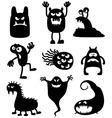 Monsters bacteria vector