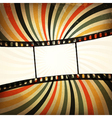 Grunge film strip background vector