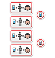 People drinking alcohol - sad and happy face icons vector
