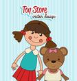 Toys design over blue background vector