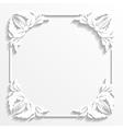 White frame vector