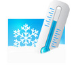 Thermometer in the snow vector