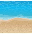 Seaside background vector