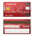 Detailed beautiful credit card vector