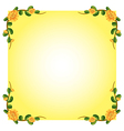 An empty template with a flowering plant border vector