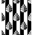 Seamless monochrome damask vintage pattern striped vector