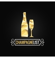 Champagne bottle poly design background vector
