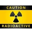 Radioactive hazard sign vector
