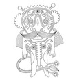Doodle fantasy monster personage vector