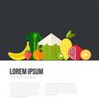 Healthy eating concept vector