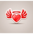 Heart with wings the icon for your design vector