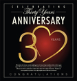 30 years anniversary black background vector