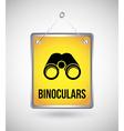 Binoculars design vector