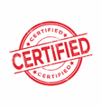Certified rubber stamp vector