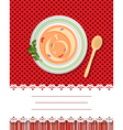 Soup and text label vector