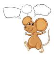 Cartoon thinking mouse vector