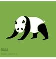 Set of panda silhouettes vector