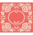 Background of floral pattern with traditional vector