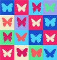 Cheerful pattern colorful butterfly summer patter vector