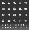 Internet useful icons on gray background vector