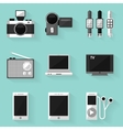Flat icon set device white style vector