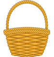 Basket hand made authentic object vector
