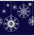 Seamless christmas balls background vector