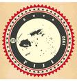 Vintage label-sticker cards of fiji vector