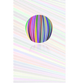 Background with color lines and color ball vector