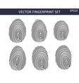 Fingerprints set vector