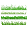 Green grass and plant elements vector